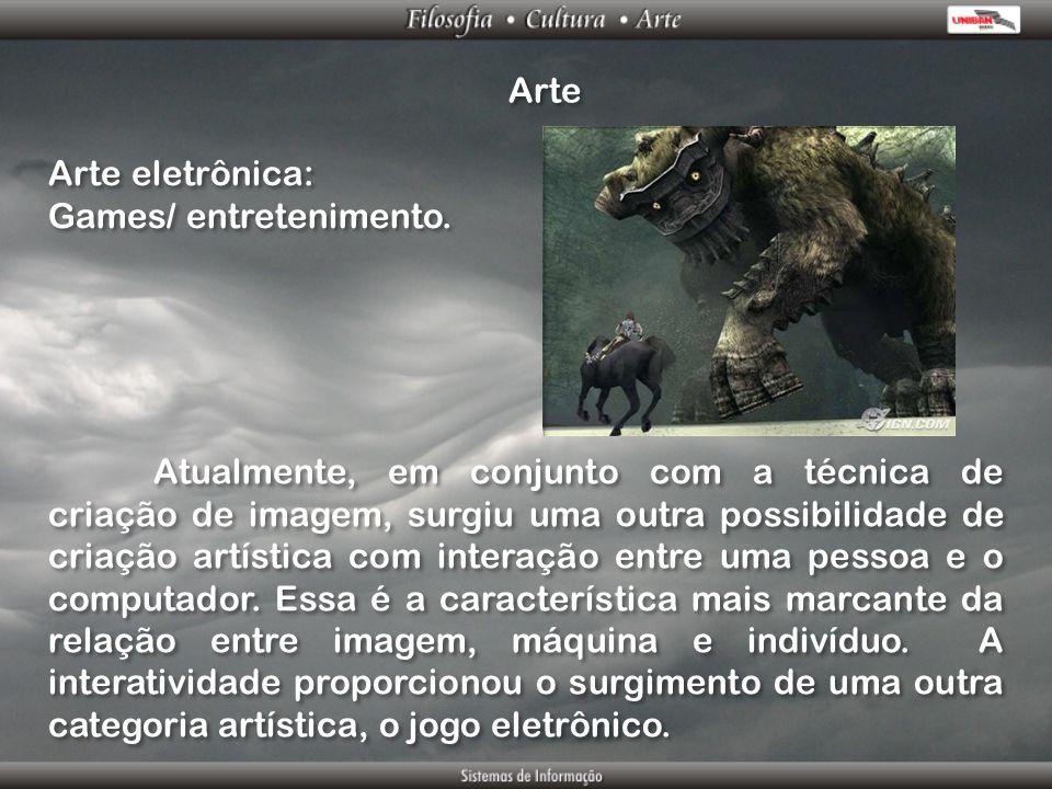 Arte Arte eletrônica: Games/ entretenimento.