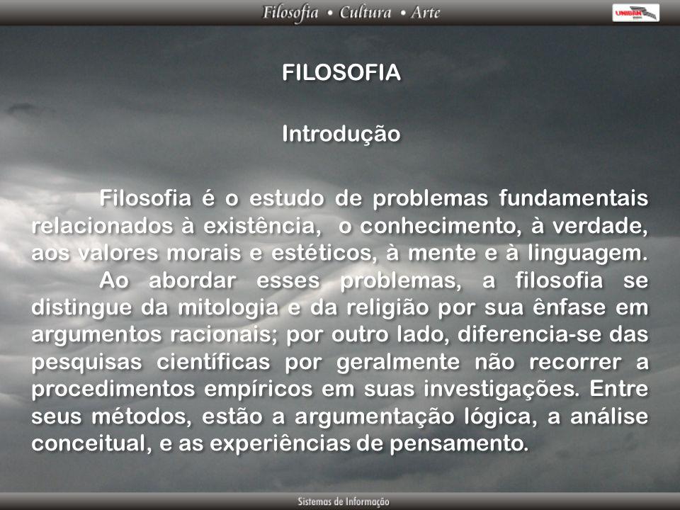 FILOSOFIA Introdução.