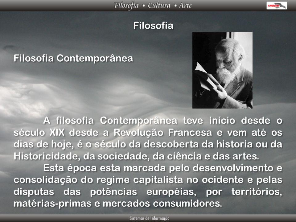 Filosofia Filosofia Contemporânea.
