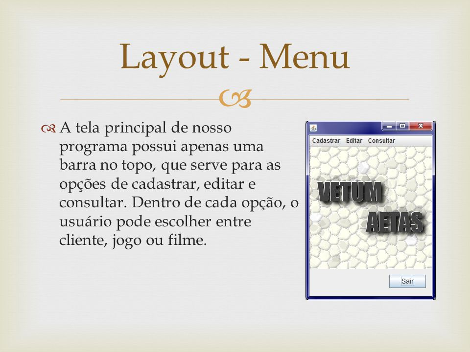 Layout - Menu