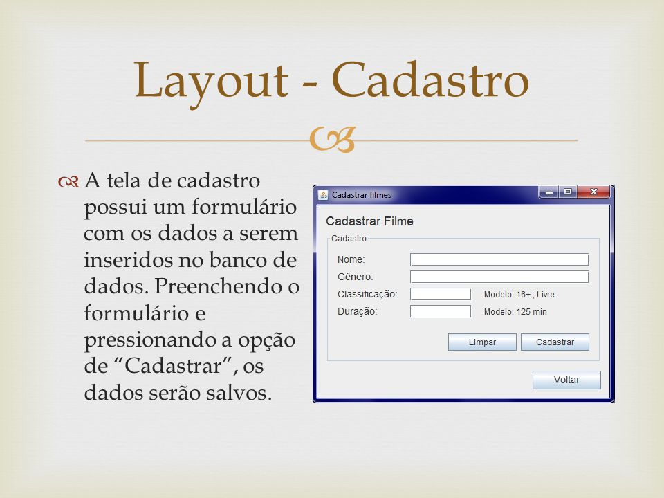 Layout - Cadastro