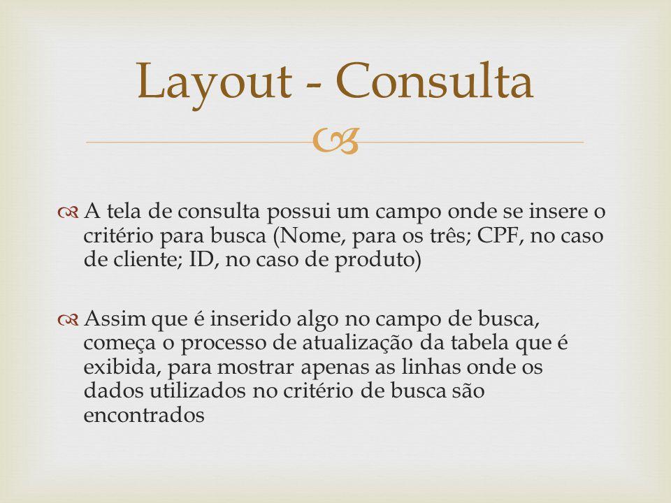 Layout - Consulta