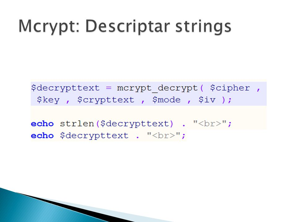 Mcrypt: Descriptar strings