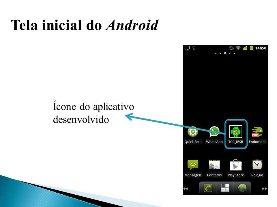 Tela inicial do Android