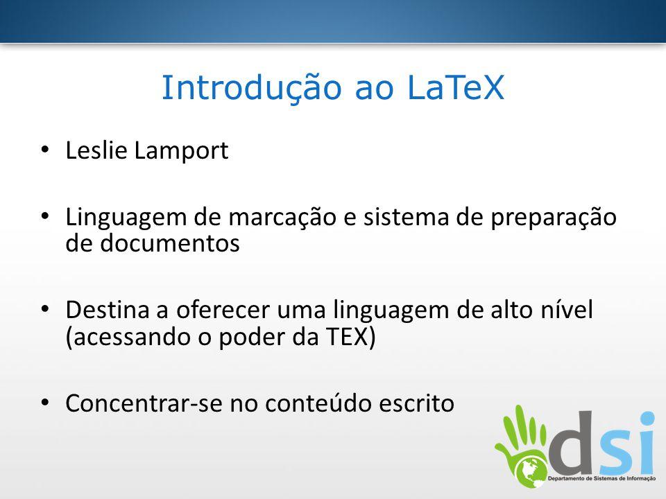 Introdução ao LaTeX Leslie Lamport