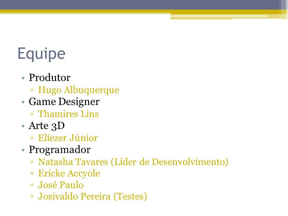 Equipe Produtor Game Designer Arte 3D Programador Hugo Albuquerque