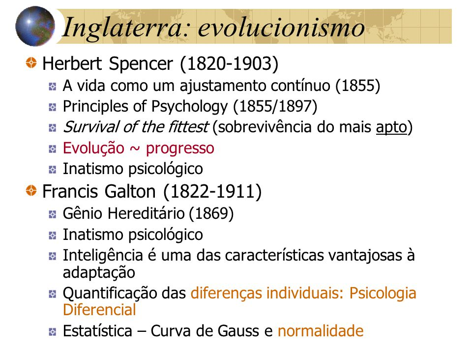 Inglaterra: evolucionismo