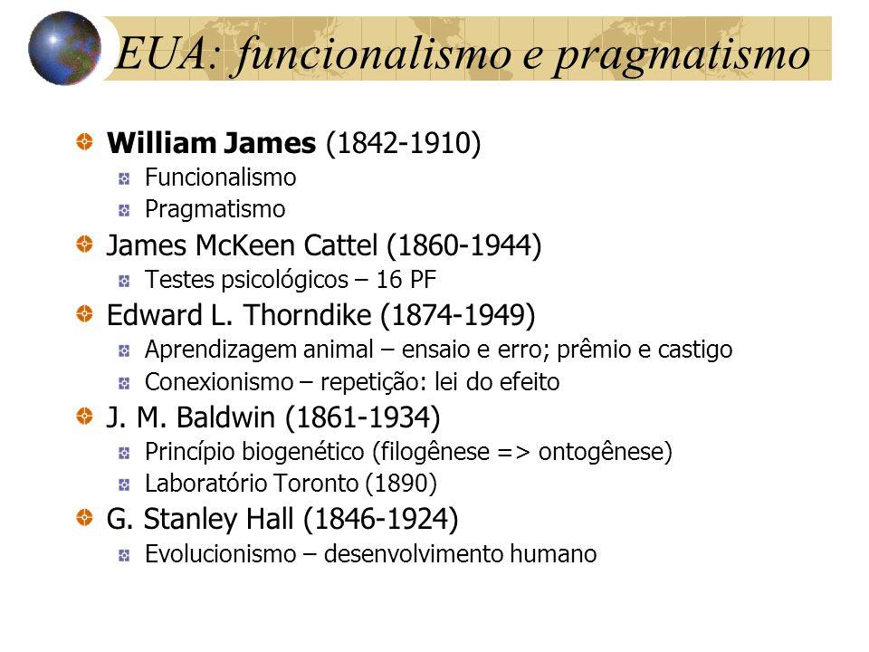 EUA: funcionalismo e pragmatismo