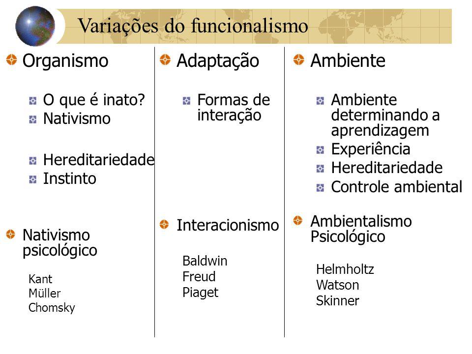 Variações do funcionalismo