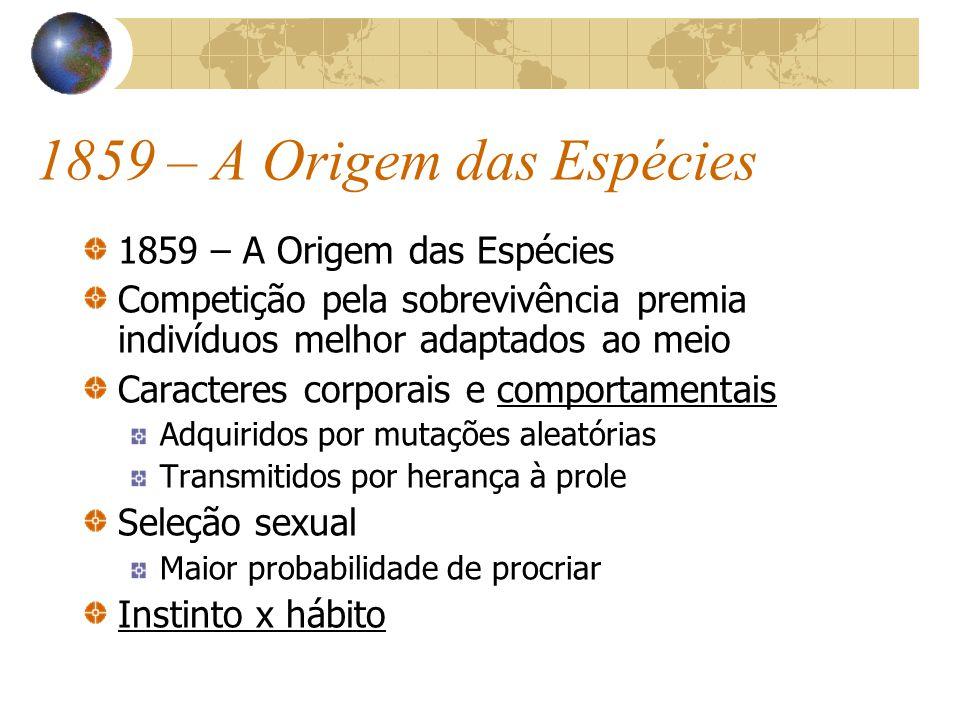1859 – A Origem das Espécies 1859 – A Origem das Espécies