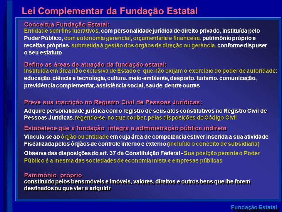 Lei Complementar da Fundação Estatal