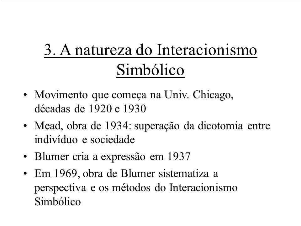 3. A natureza do Interacionismo Simbólico
