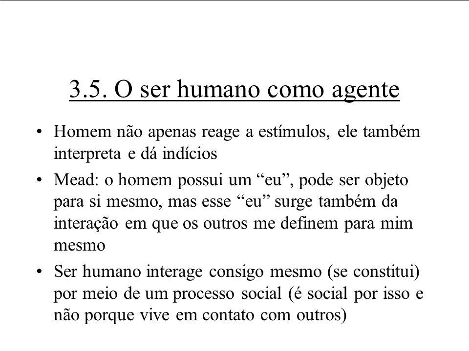3.5. O ser humano como agente
