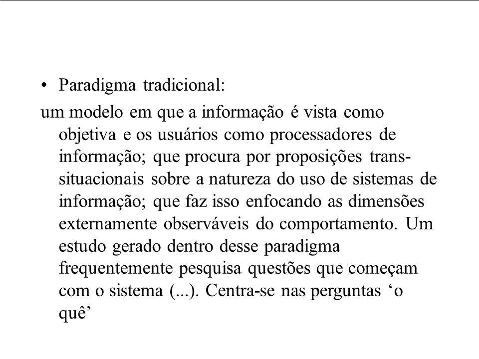 Paradigma tradicional: