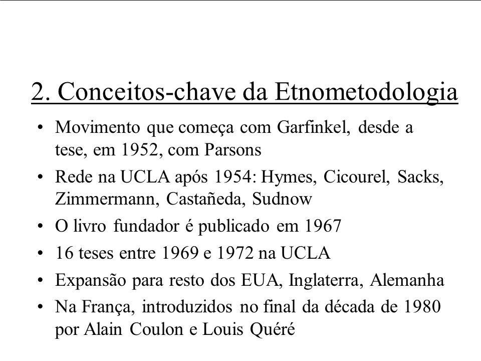2. Conceitos-chave da Etnometodologia