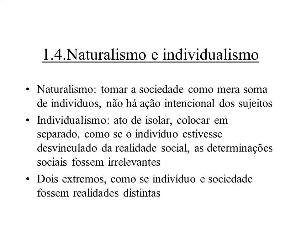1.4.Naturalismo e individualismo