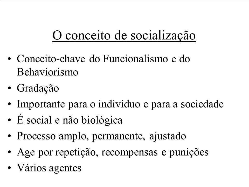 O conceito de socialização