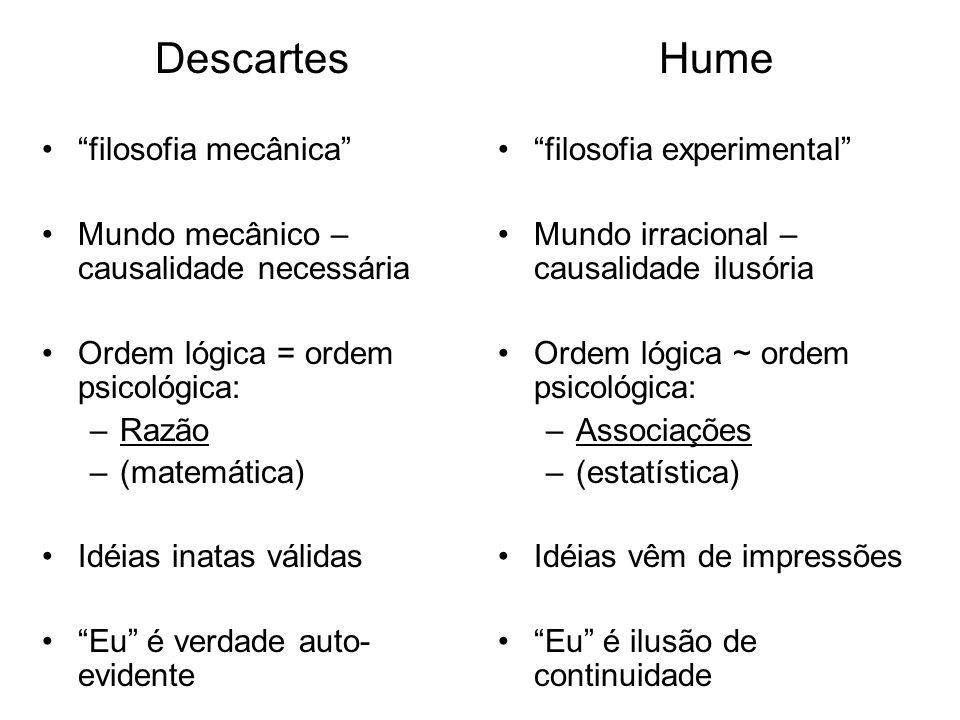 Descartes Hume filosofia mecânica