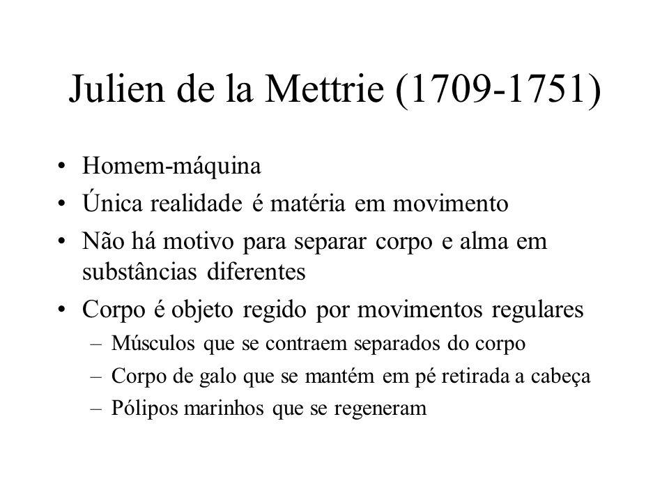 Julien de la Mettrie (1709-1751)