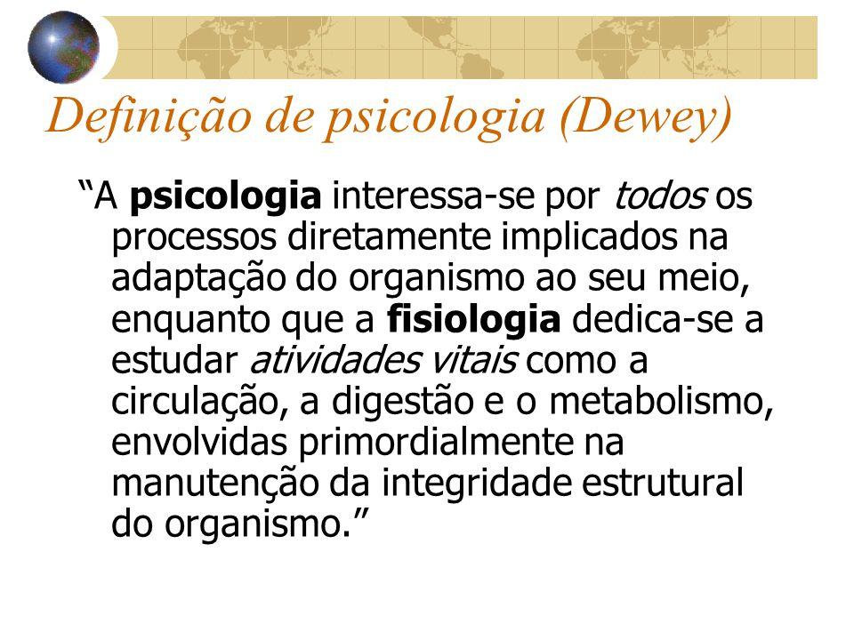 Definição de psicologia (Dewey)