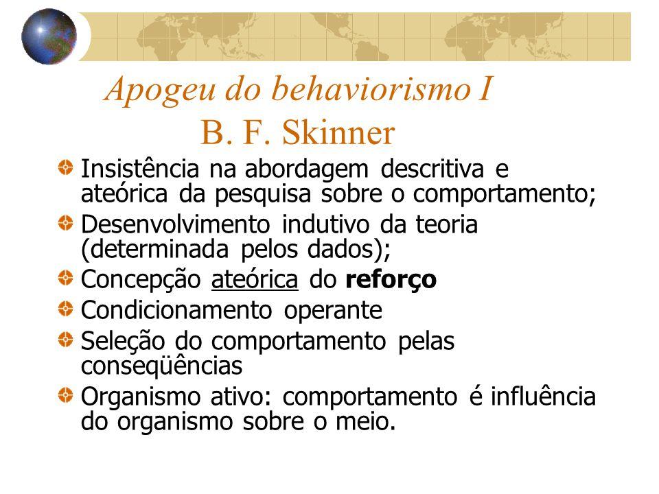 Apogeu do behaviorismo I B. F. Skinner