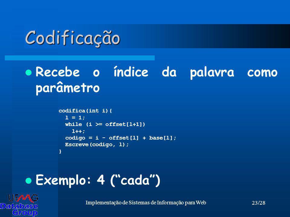 Implementação de Sistemas de Informação para Web