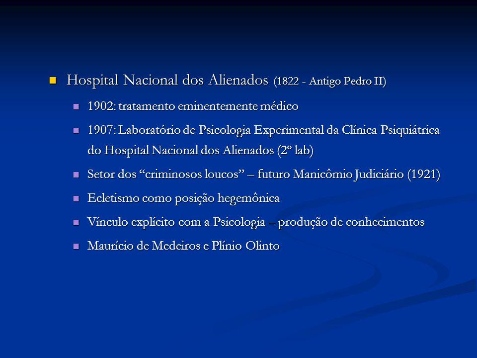 Hospital Nacional dos Alienados (1822 - Antigo Pedro II)