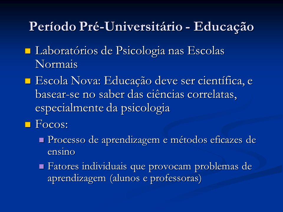 Período Pré-Universitário - Educação