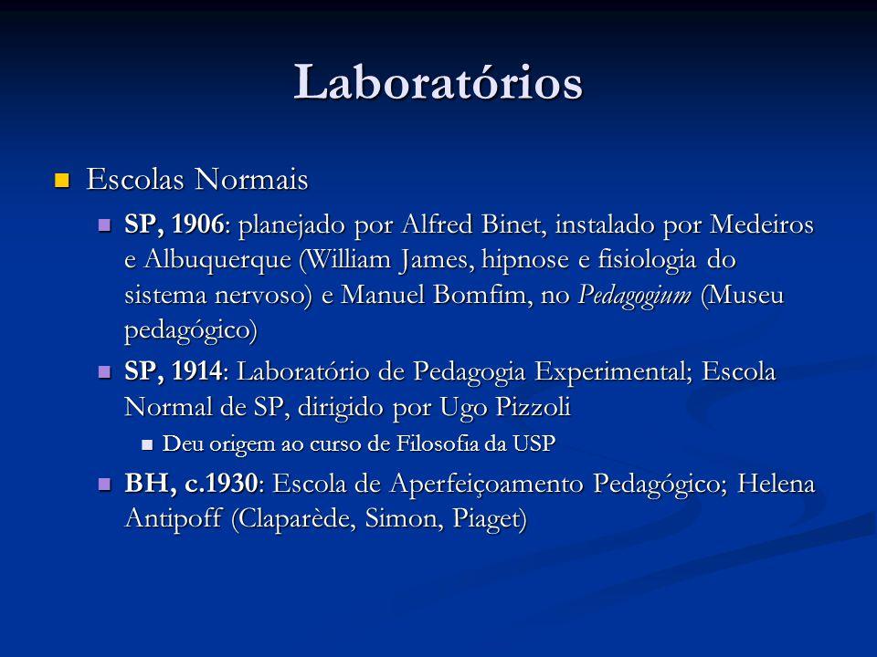 Laboratórios Escolas Normais