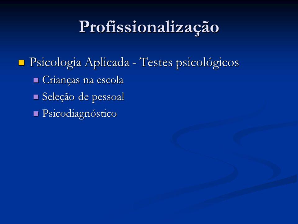 Profissionalização Psicologia Aplicada - Testes psicológicos