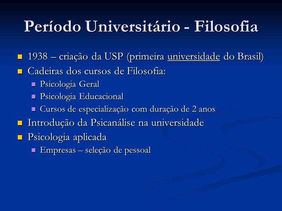 Período Universitário - Filosofia