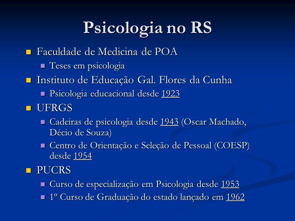 Psicologia no RS Faculdade de Medicina de POA