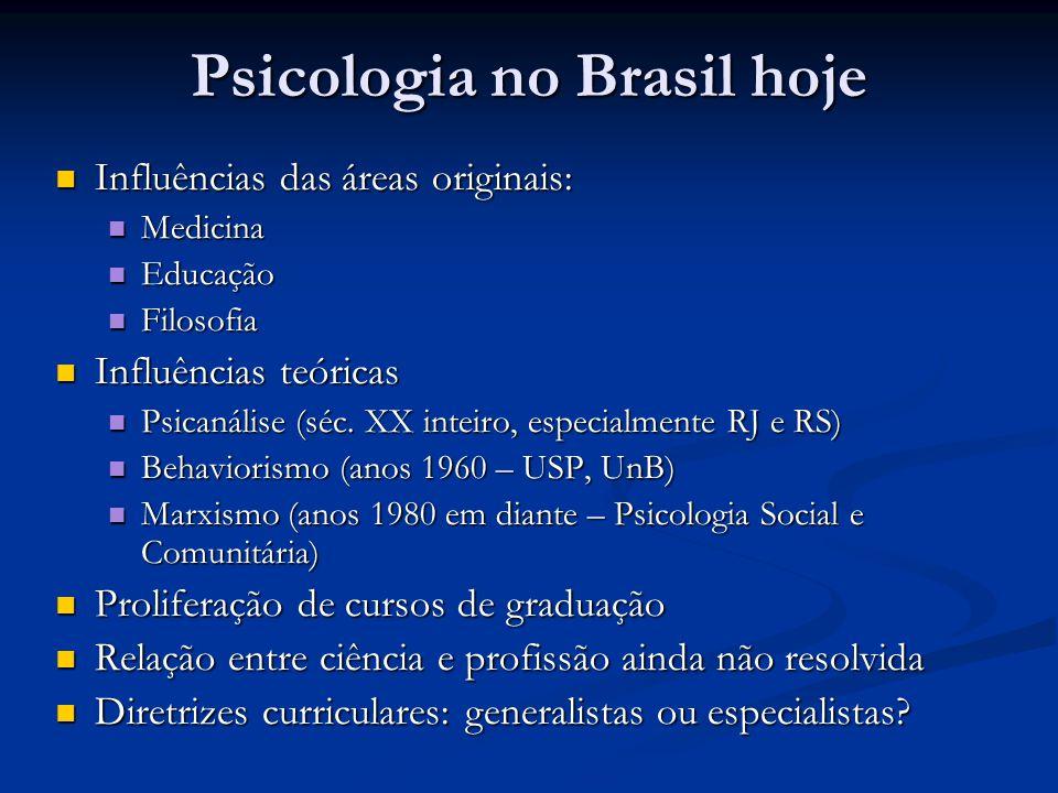Psicologia no Brasil hoje