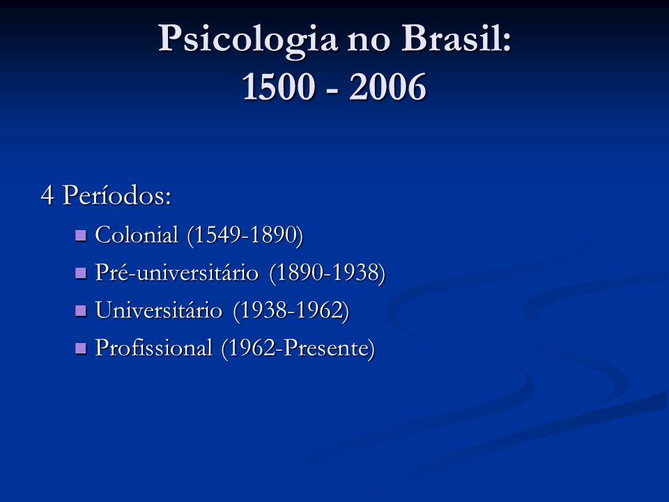 Psicologia no Brasil: 1500 - 2006