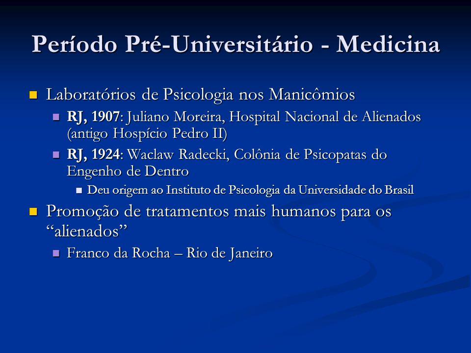 Período Pré-Universitário - Medicina