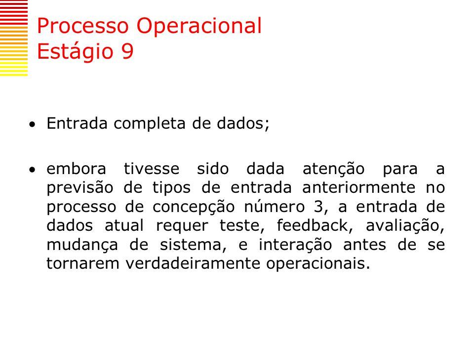 Processo Operacional Estágio 9
