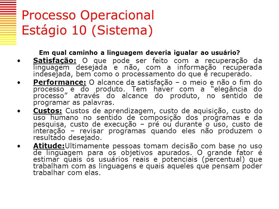 Processo Operacional Estágio 10 (Sistema)