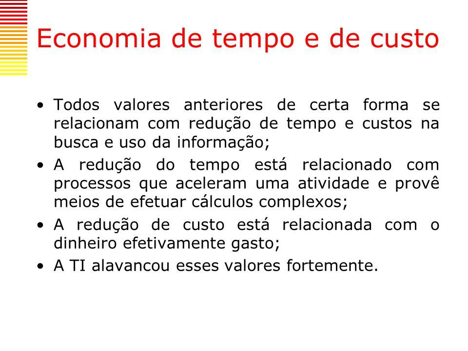 Economia de tempo e de custo