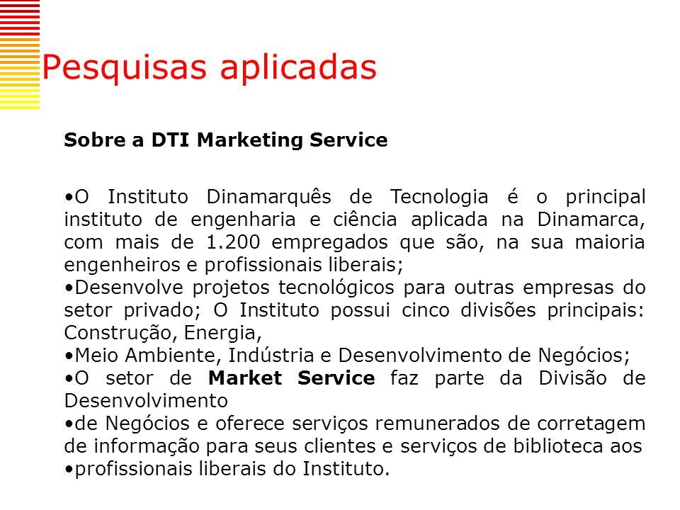 Pesquisas aplicadas Sobre a DTI Marketing Service
