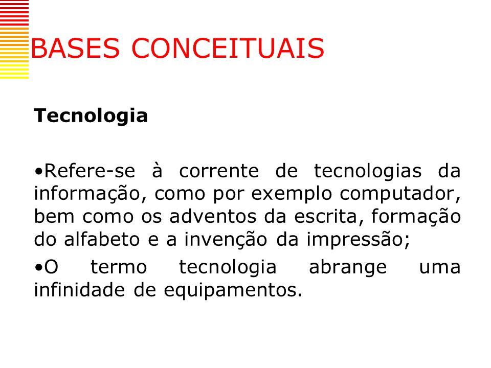 BASES CONCEITUAIS Tecnologia
