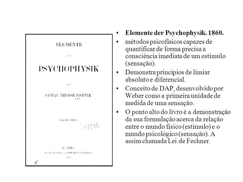 Elemente der Psychophysik. 1860.