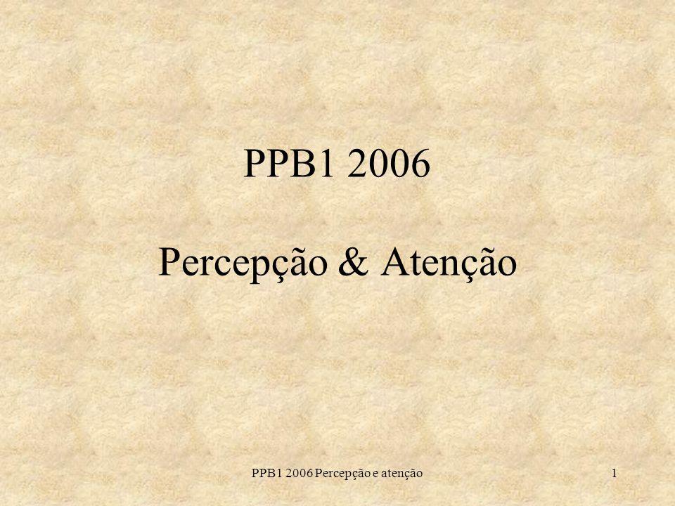 PPB1 2006 Percepção & Atenção