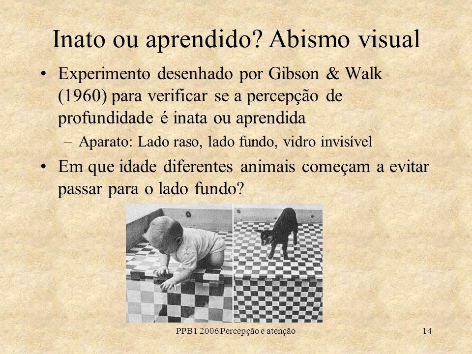 Inato ou aprendido Abismo visual