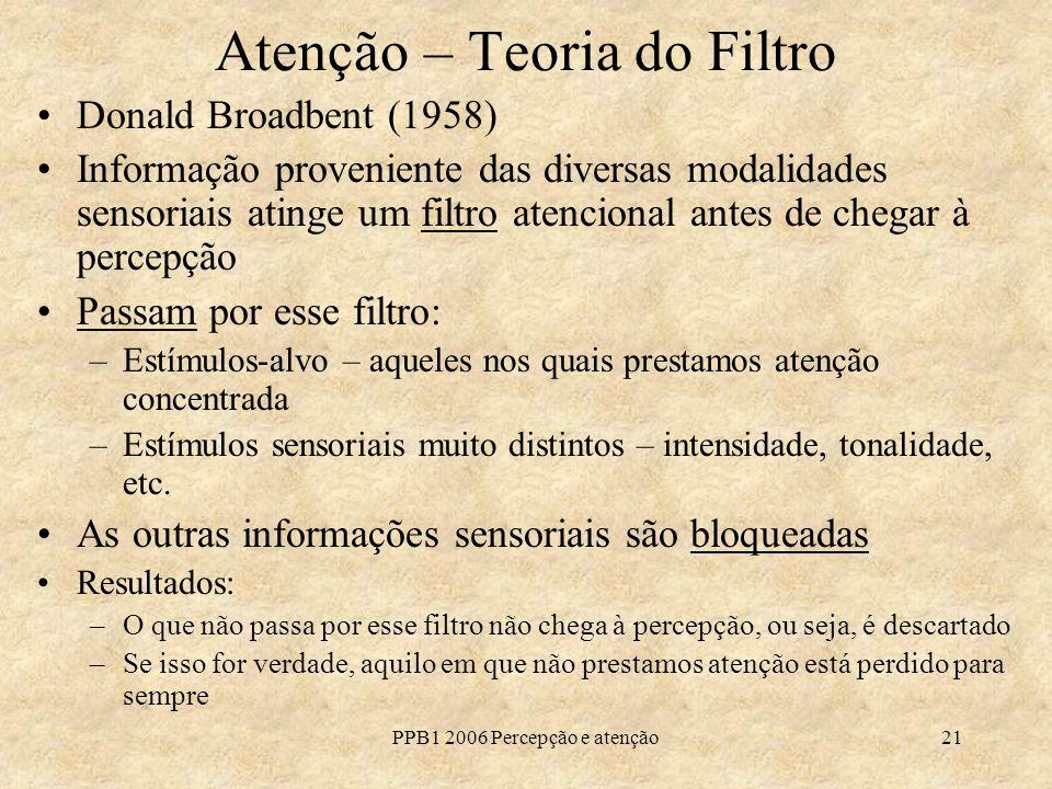 Atenção – Teoria do Filtro