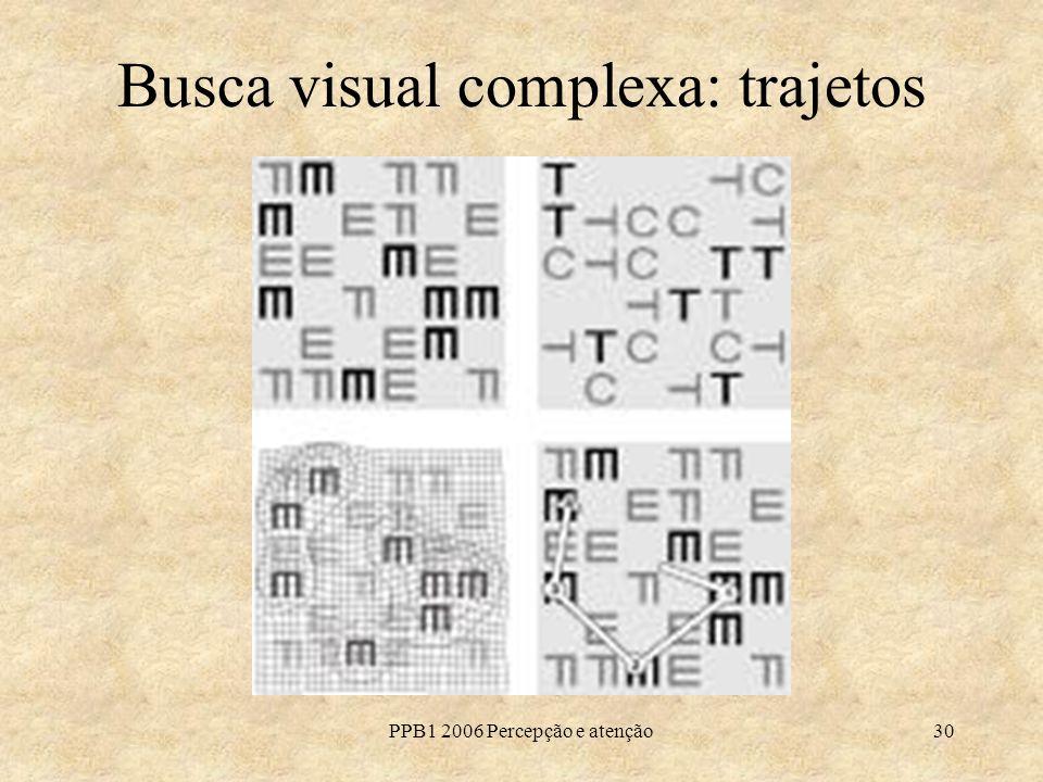 Busca visual complexa: trajetos