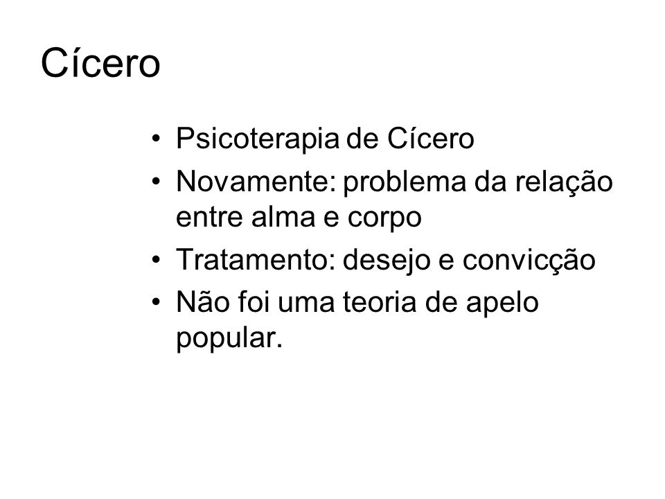 Cícero Psicoterapia de Cícero