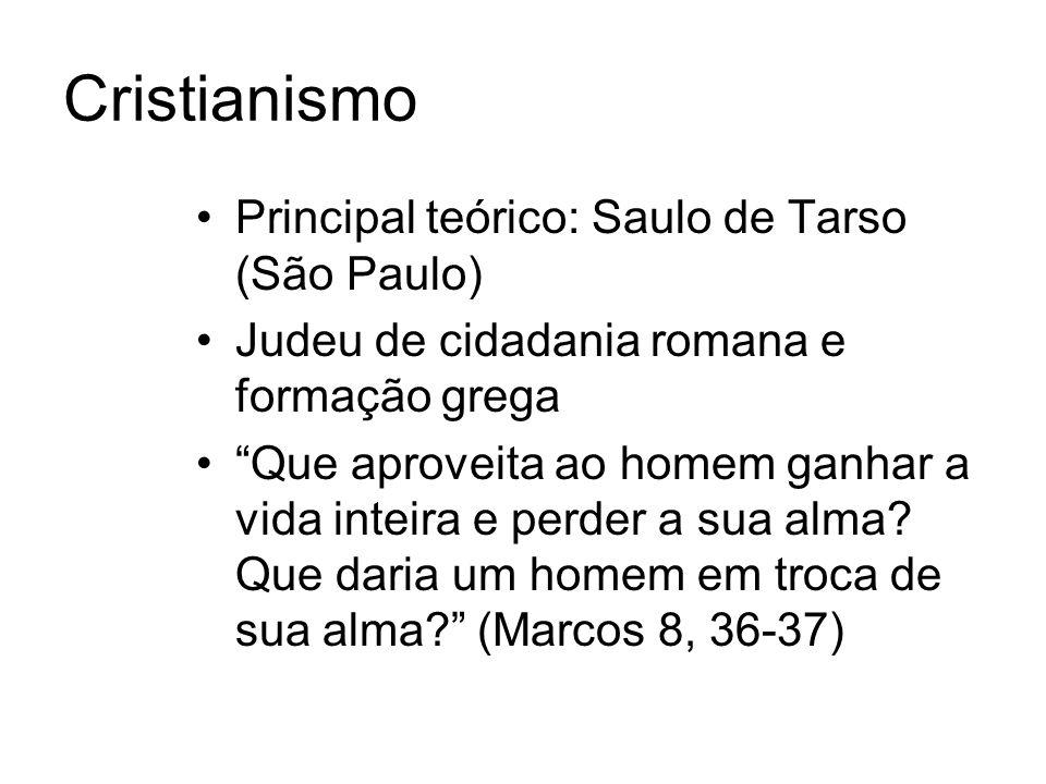 Cristianismo Principal teórico: Saulo de Tarso (São Paulo)