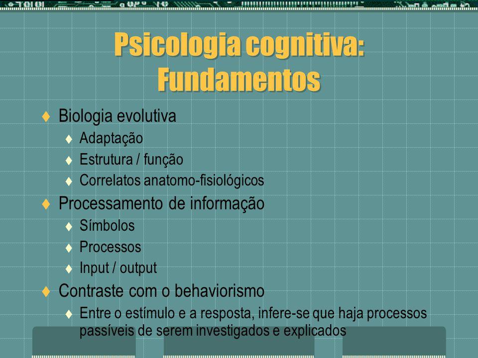 Psicologia cognitiva: Fundamentos