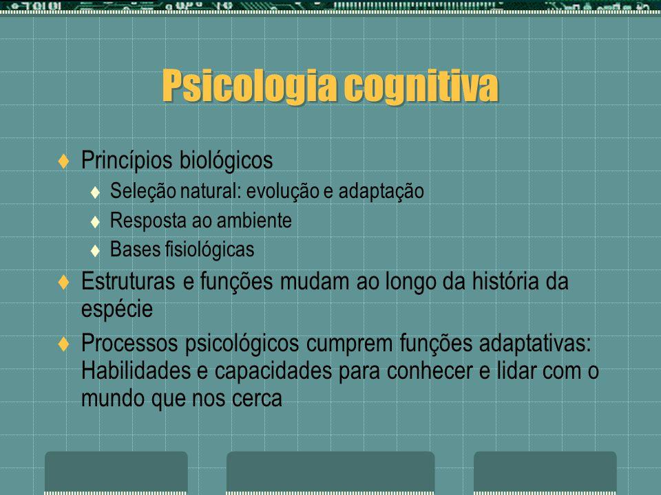 Psicologia cognitiva Princípios biológicos