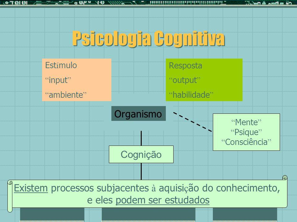 Psicologia Cognitiva Organismo Cognição
